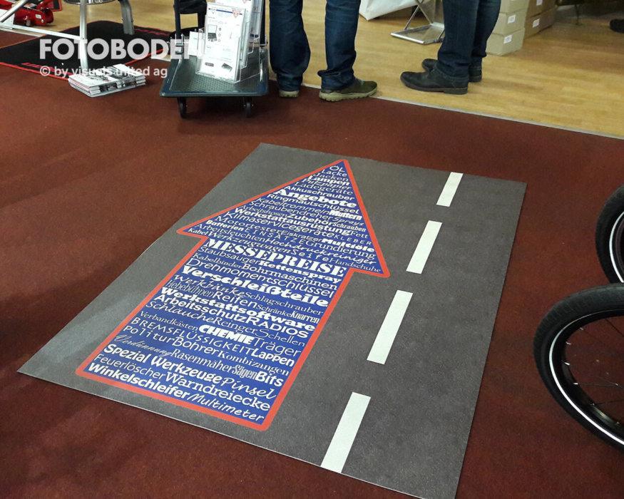 FOTOBODEN™ Messeboden Teppich Selbst Gestalten Fallschutzmatten