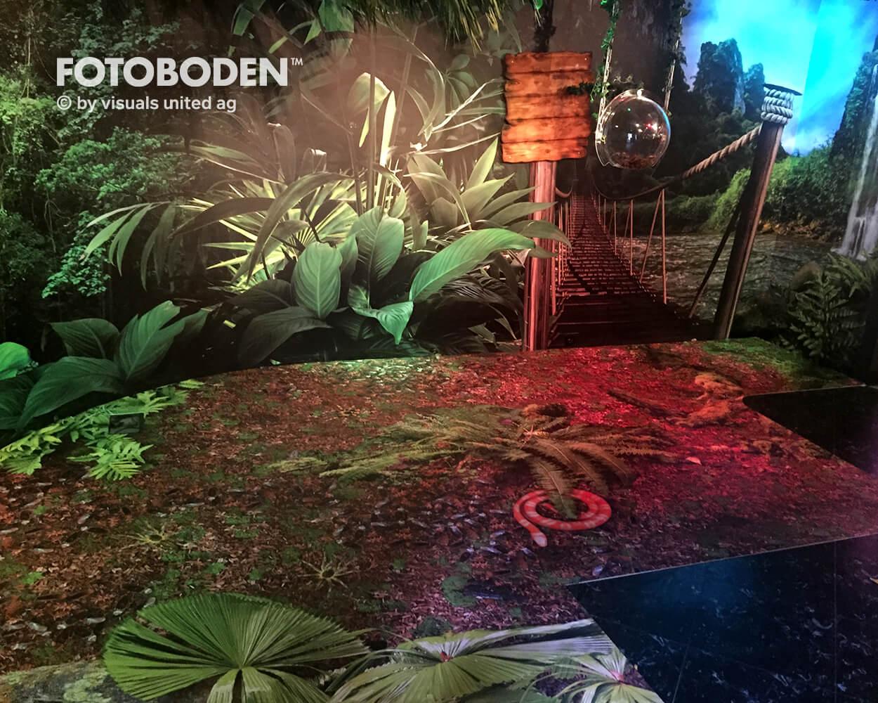 Madame Tussauds2 Ausstellung Museum  Raumkonzept Stimmung Museumsboden Ausstellungsboden Fotoboden Vinylboden Flooring Individuell Event