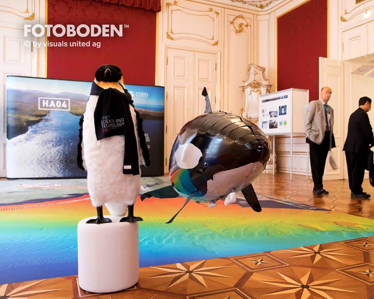 CTBTO2 Ausstellung Museum  Raumkonzept Stimmung Museumsboden Ausstellungsboden Fotoboden Vinylboden Flooring Individuell Event
