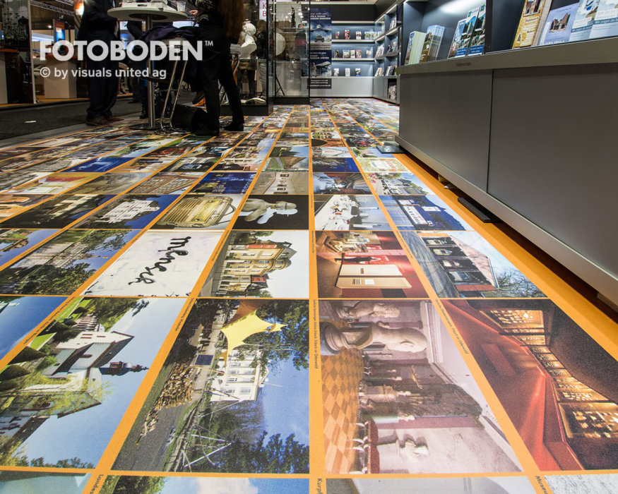 FOTOBODEN™ Messeboden Teppich Selbst Gestalten
