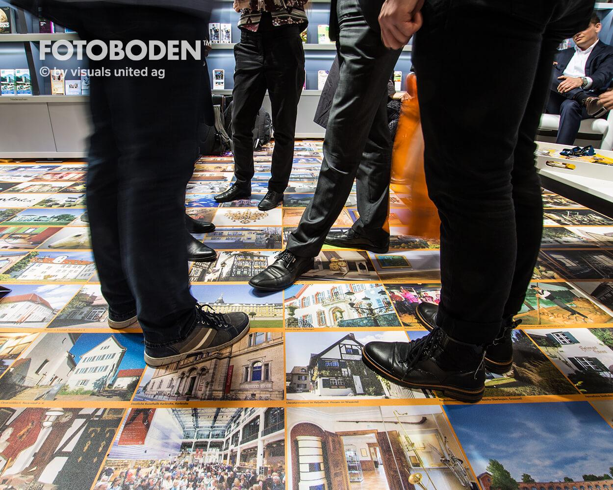 ITB6 Fotoboden Messeboden Tradeshow Flooring Bodengestaltung Messe Bodendesign Messedesign Design Boden Messegestaltung Bodenwerbung