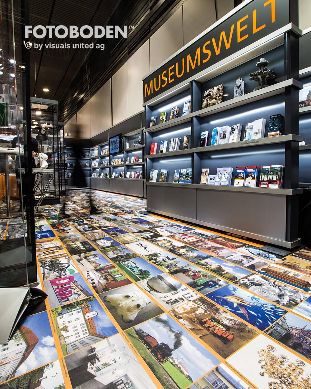 Fotoboden Messeboden individuell gestallten