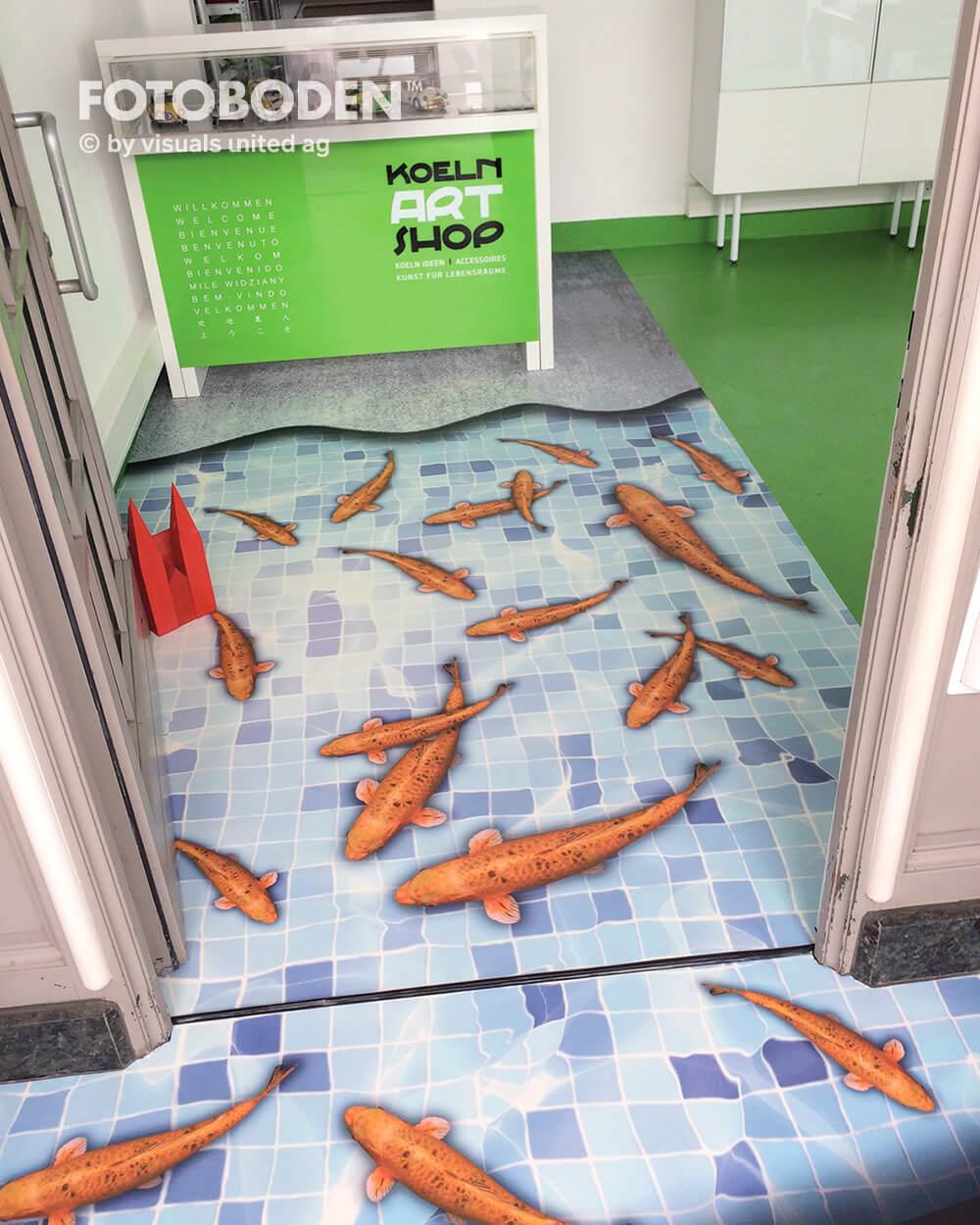 3D Boden Ladenbau Ladengestaltung Fußboden
