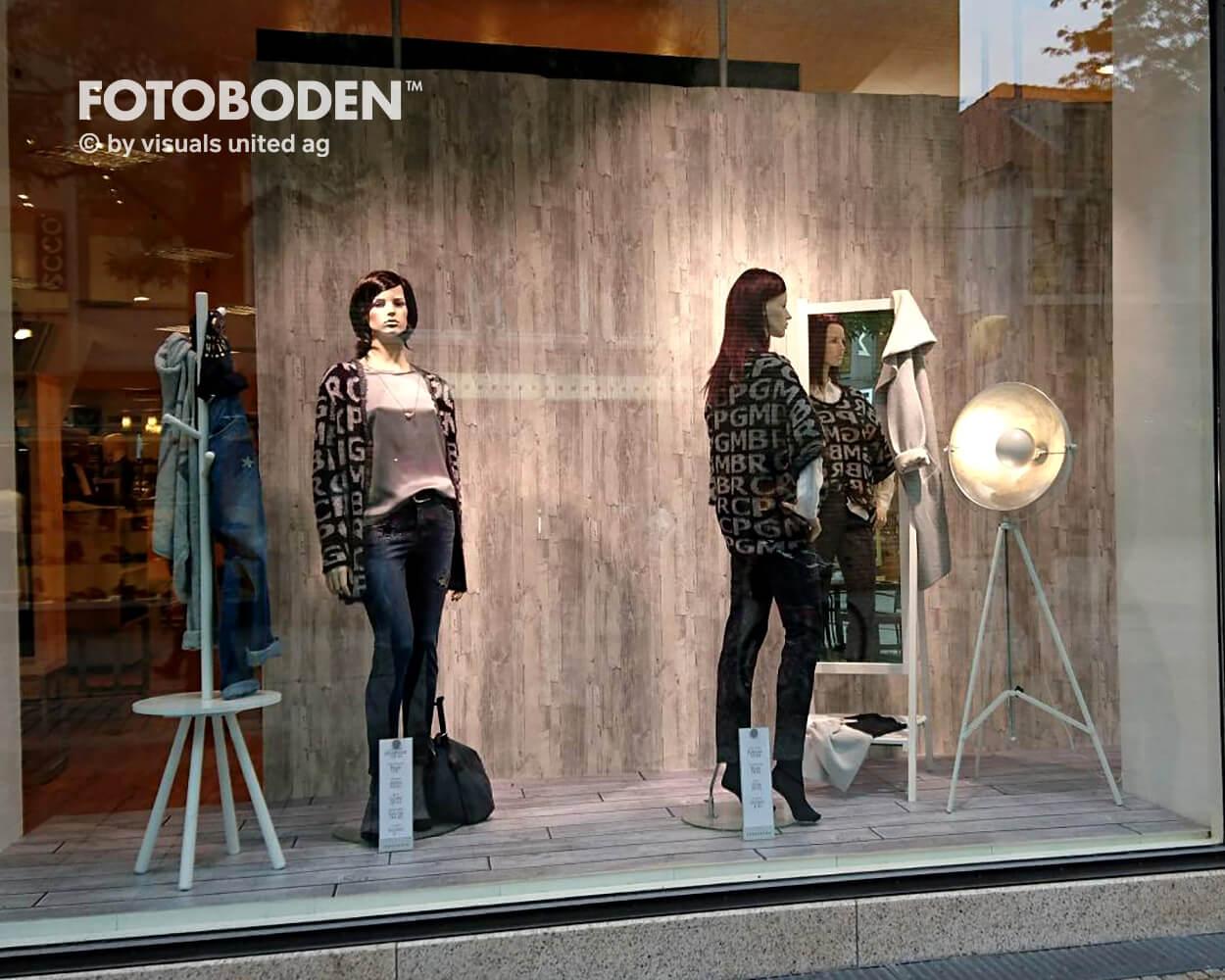 Schaufensterdekoration Fotoboden Schaufenstergestaltung
