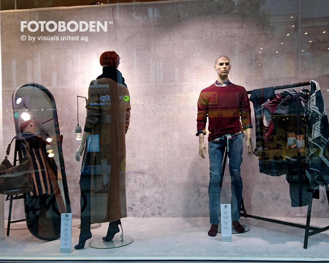 Schaufenster4 Fotoboden Flooring Fußboden Bodengestaltung Floorminder Bodendruck Werbung Fußbodenwerbung Bodenwerbung Merchandising Advertising Visualmerchandising