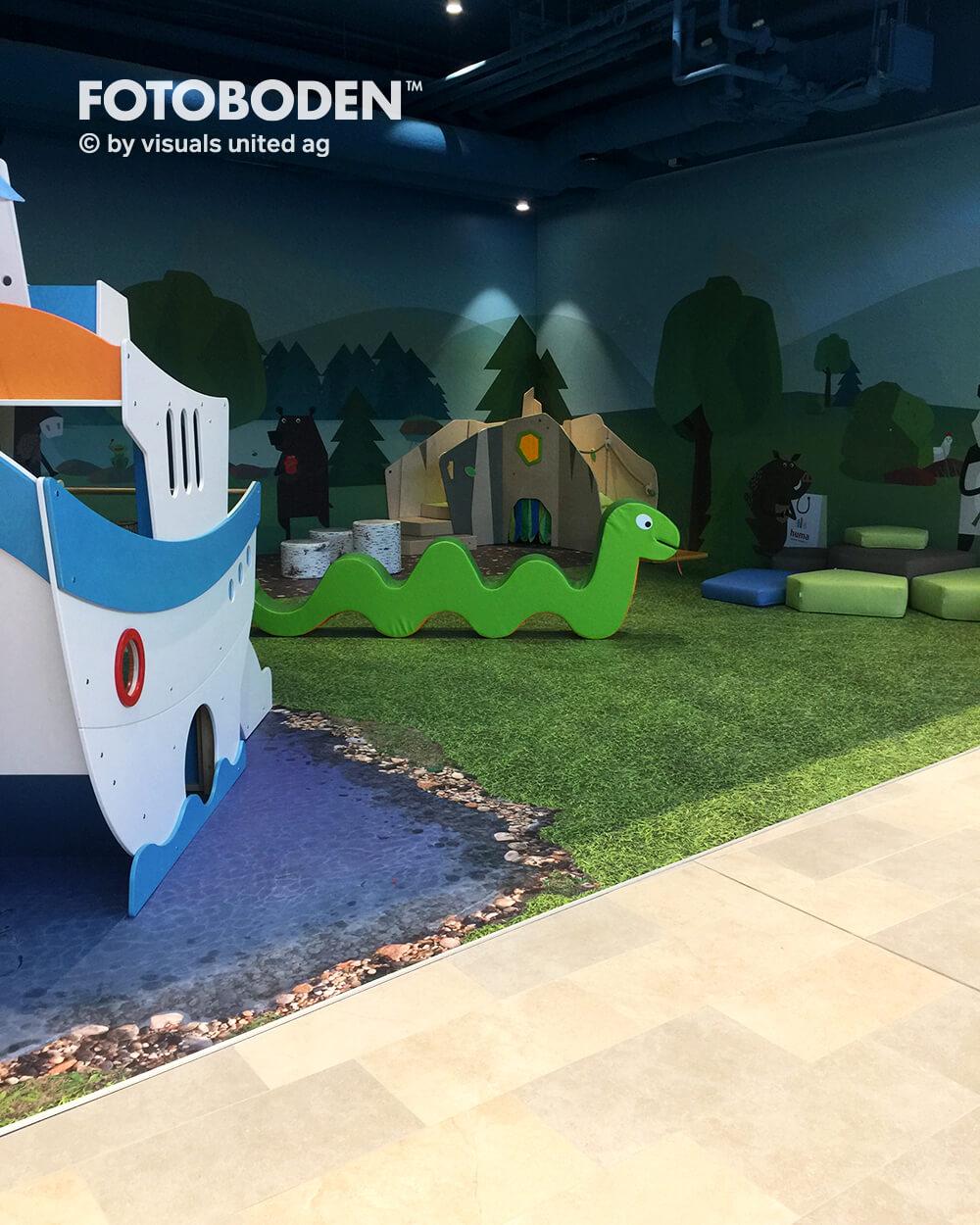 FOTOBODEN™ Indoor Kinderspielplatz Fußboden