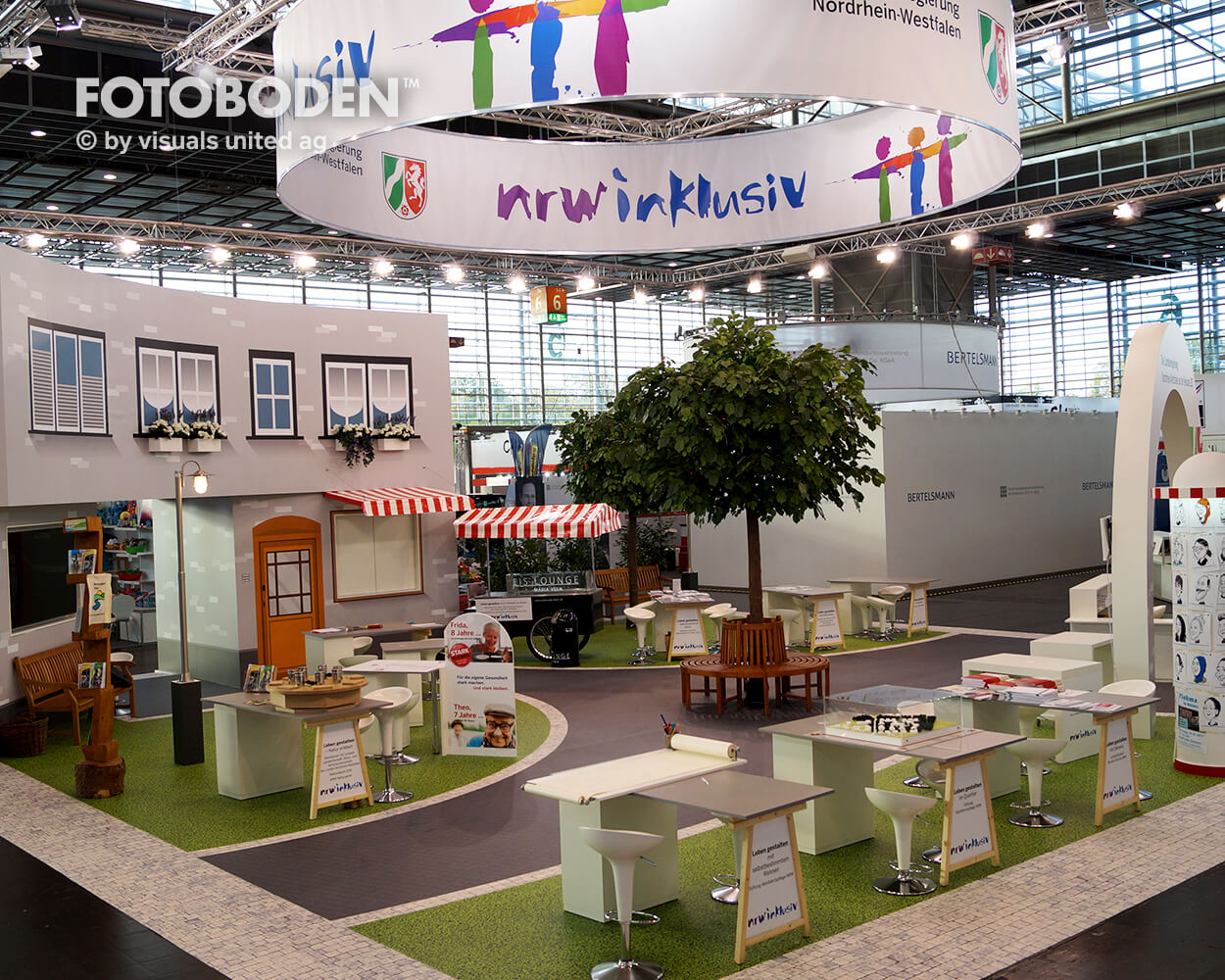 FOTOBODEN™ Messeboden Ausstellungsdesign Einkaufszentrum