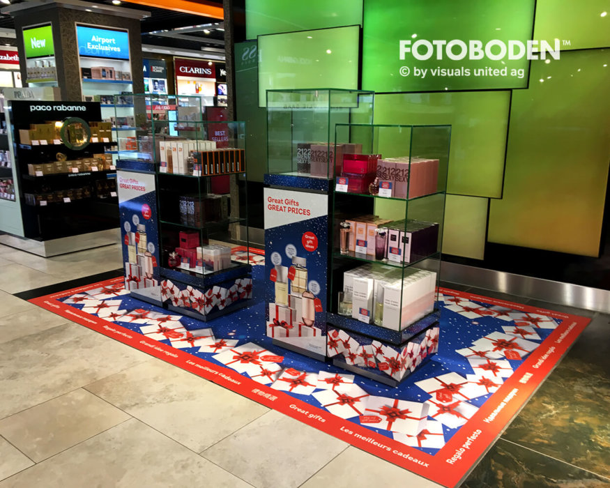 Ausstellungsdesign Teppich Bedrucken Weihnachten
