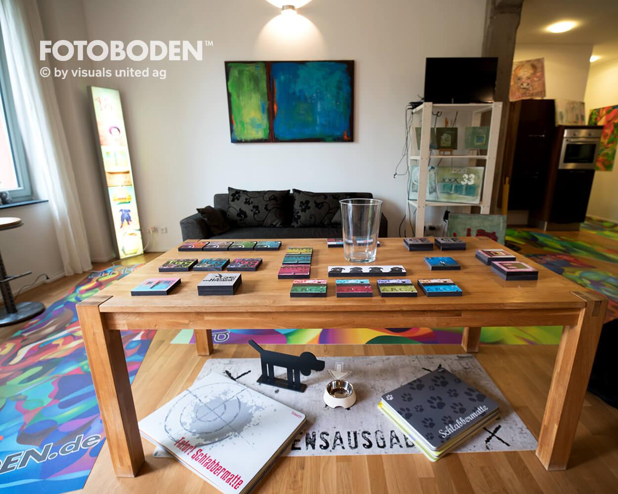 Ausstellung Raumkonzept Teppich bedrucken
