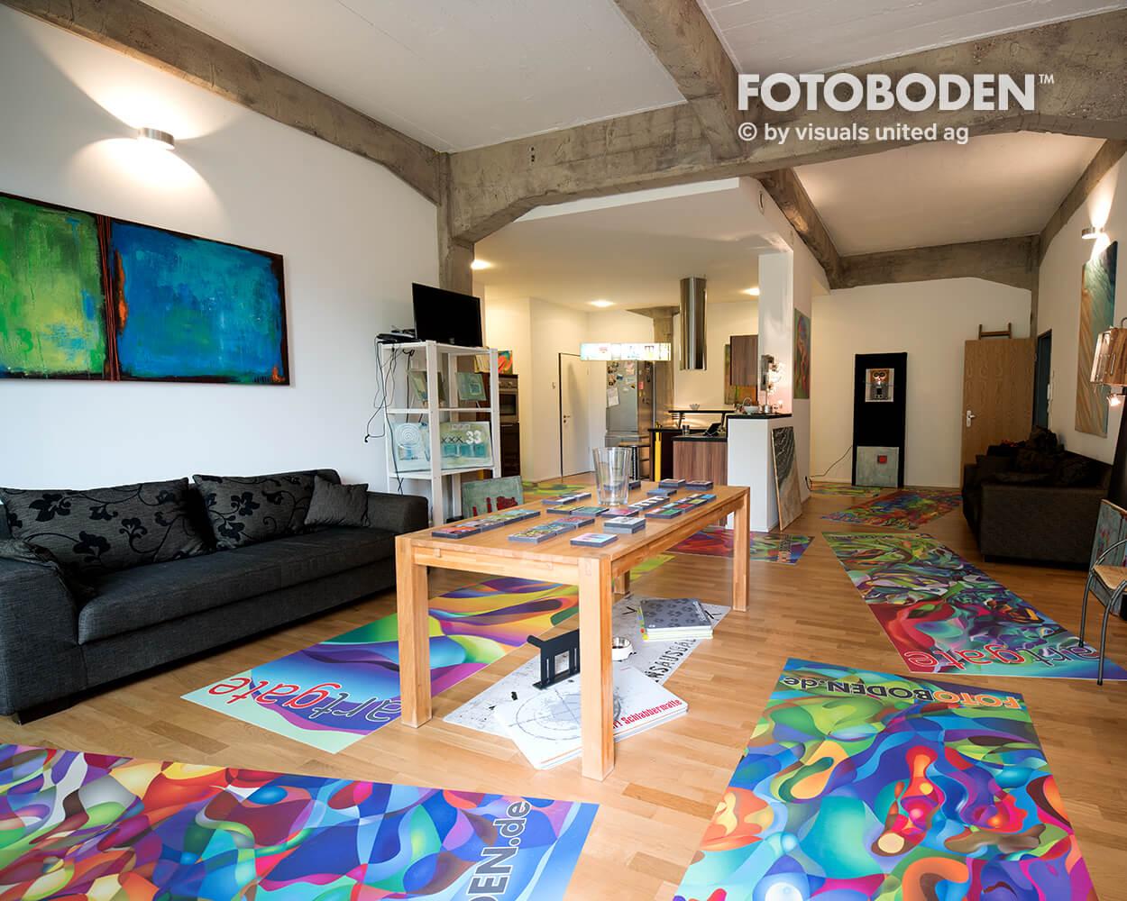Ausstellung Teppich selbst gestalten Fotoboden