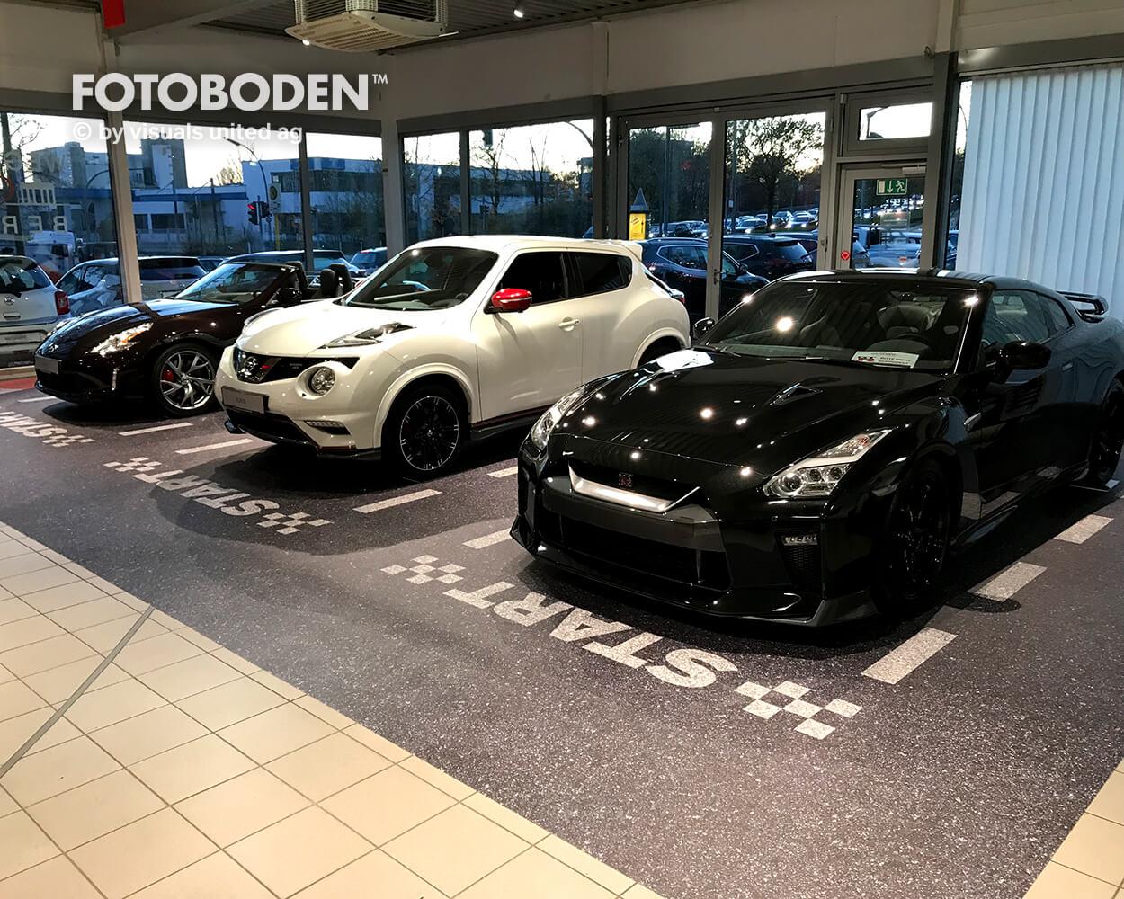 FOTOBODEN™ Autohaus Teppich selbst gestalten