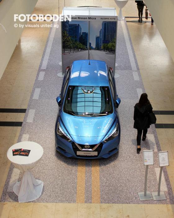 FOTOBODEN™ Flooring Asphalt Auto Ausstellungsdesign