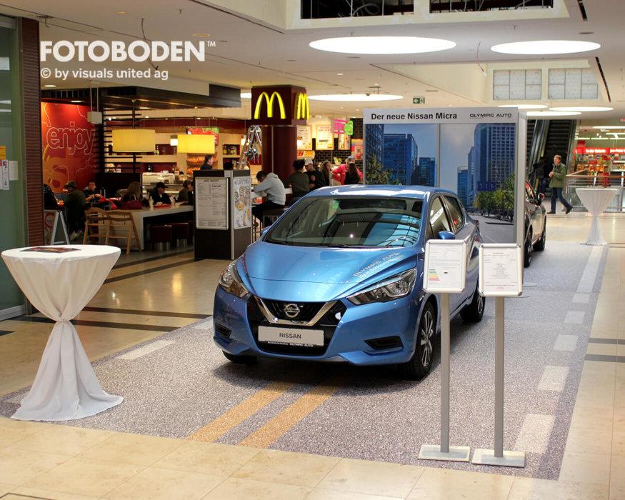 Flooring Fußboden Auto Ausstellungsdesign Einkaufszentrum