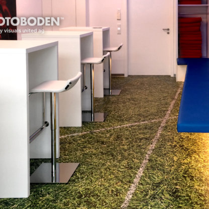 Vinyl Fußboden Design Fussballrasen