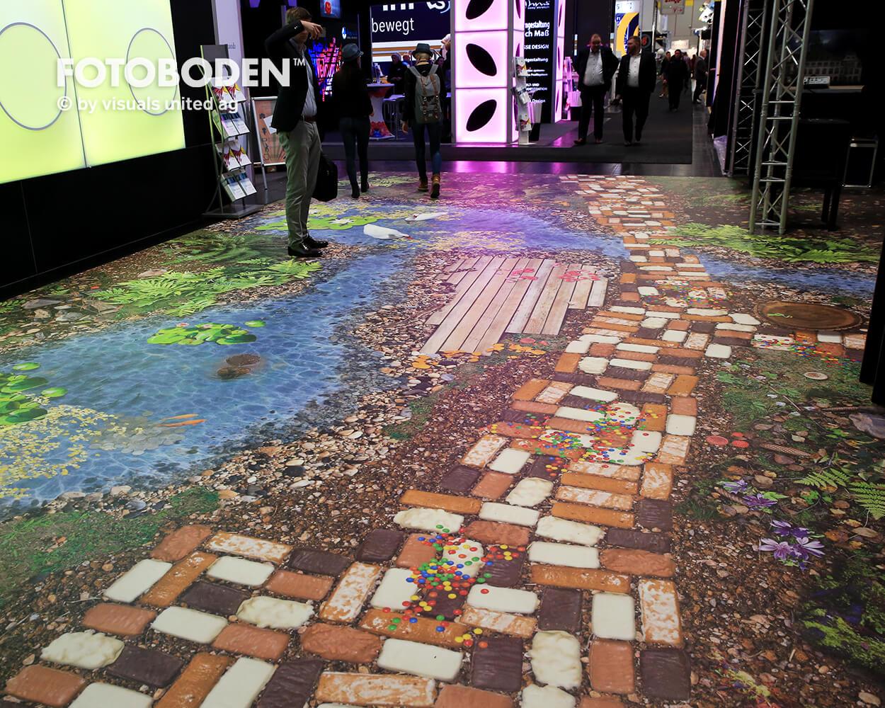 BOE2018 3 Fotoboden Messeboden Tradeshow Flooring Bodengestaltung Messe Bodendesign Messedesign Design Boden Messegestaltung