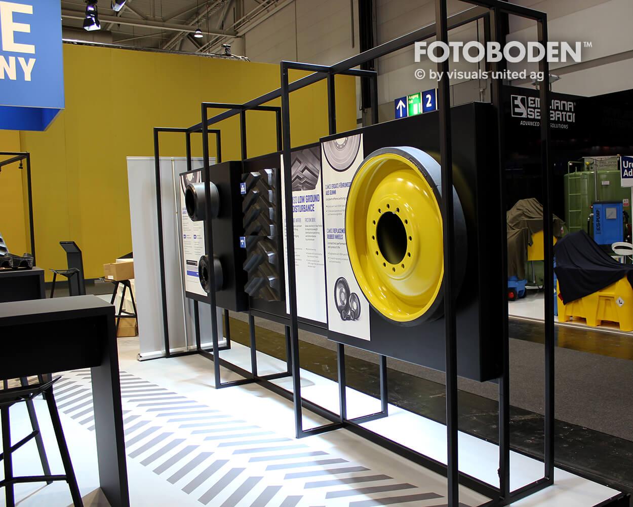 Camso 4 Fotoboden Messeboden Tradeshow Flooring Bodengestaltung Messe Bodendesign Messedesign Design Boden Messegestaltung