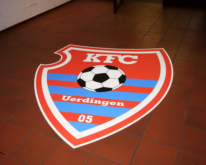 Bodendisplay Teppich mit Logo