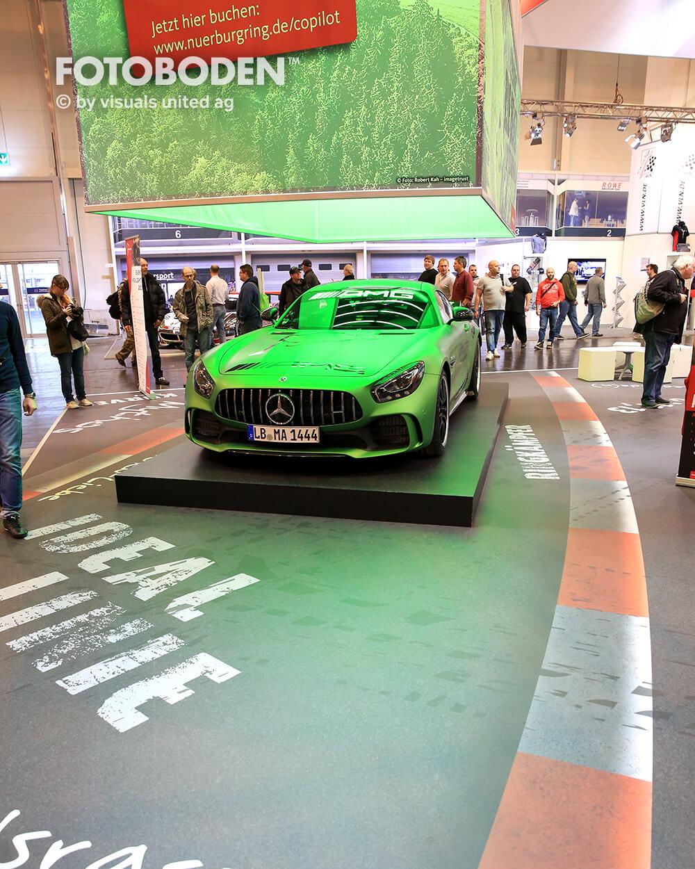 Motorshow Essen Fotoboden Messeboden Tradeshow Flooring Bodengestaltung Messe Bodendesign Messedesign Design Boden Messegestaltung1