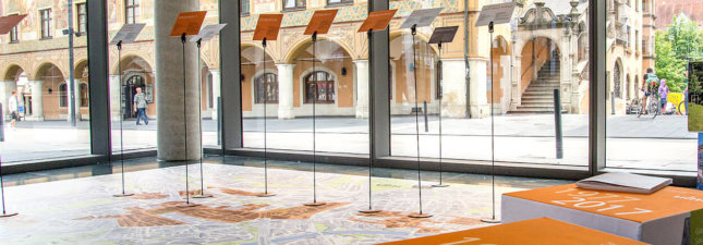 Ausstellung Designbelag PVC Belag Vinylboden