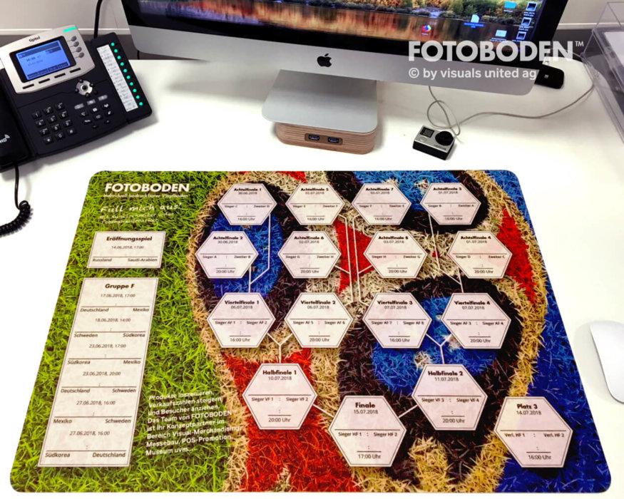 Tischunterlage Fußball Spielplan Vinyl