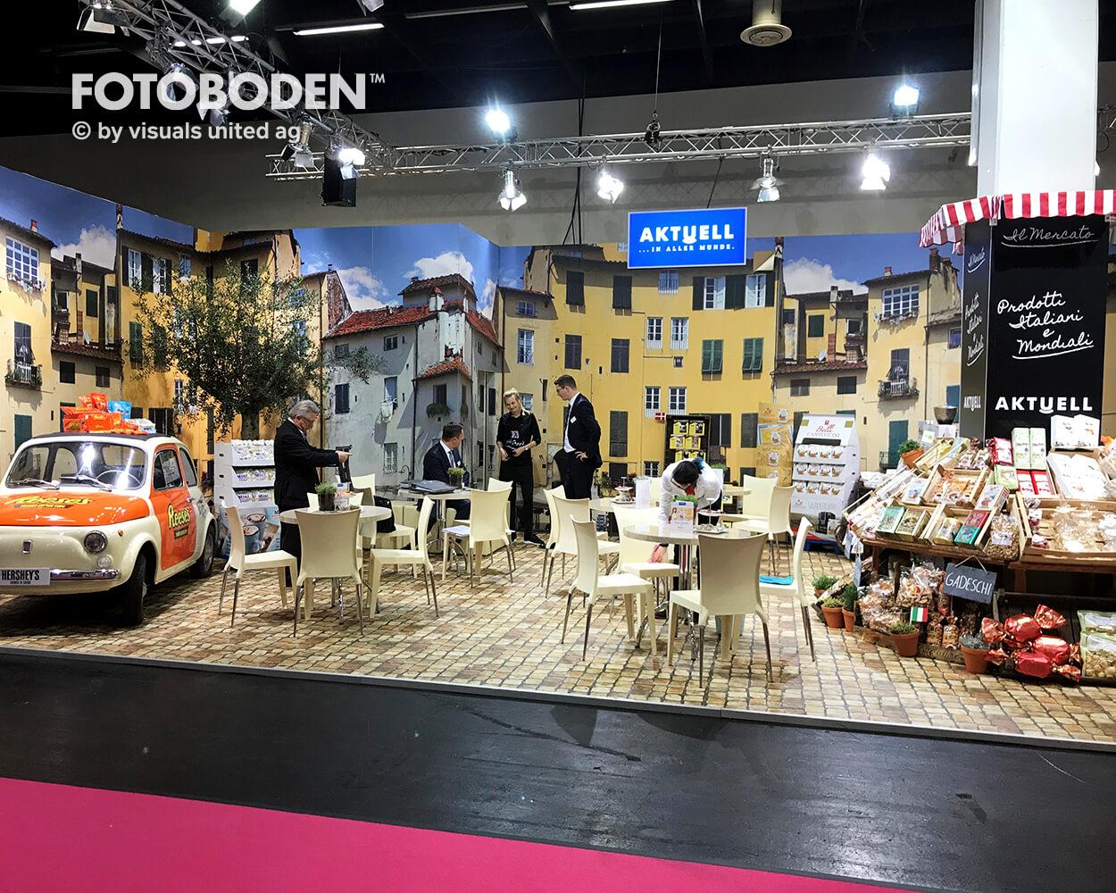 FOTOBODEN™ Messeboden Bodengestaltung Objektdesign