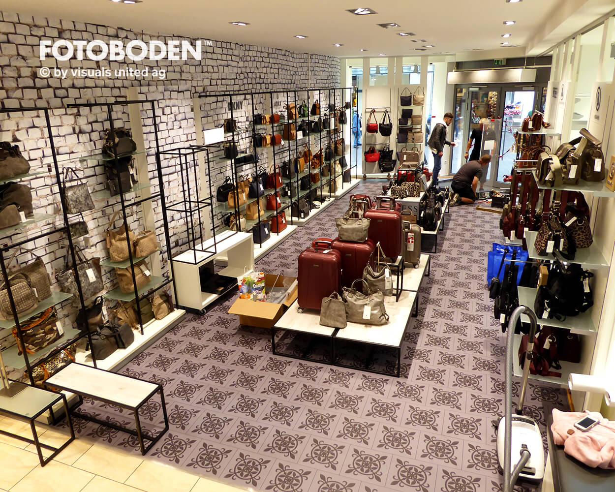 Dittfeld Ladenbau Ladengestaltung Fußboden Verkaufsfläche Bodengestaltung Boden Foto Fotoboden Fotomotiv Motiv Druck Visual Merchandising Point Of Sale POS2