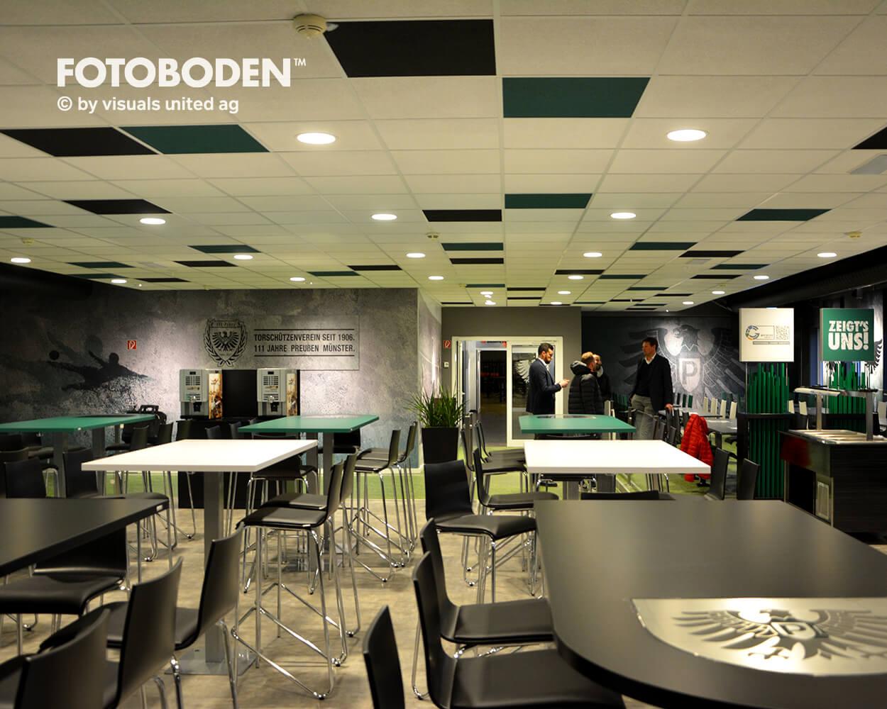 Preußen Münster Fotoboden Sport Sponsoring Werbung Advertising Flooring 8