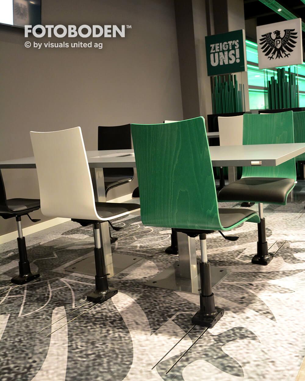 Preußen Münster Fotoboden Sport Sponsoring Werbung Advertising Flooring 5