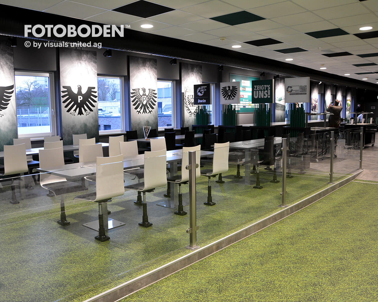Preußen Muenster Fotoboden Sport Sponsoring Werbung Advertising Flooring 1