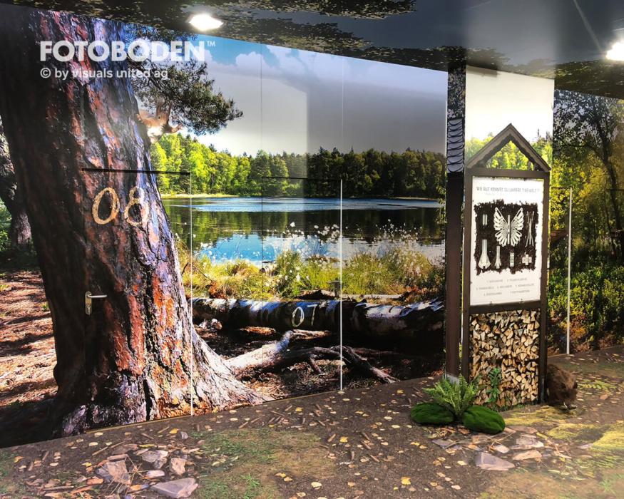 FOTOBODEN™ Messewand Vinylboden Motivboden