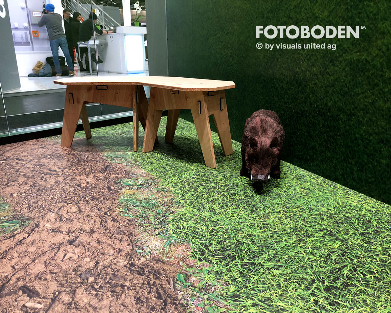 Fotoboden Siegenia Fotoboden Messeboden Tradeshow Flooring Bodengestaltung Messe Bodendesign Messedesign Design Boden Messegestaltung 3