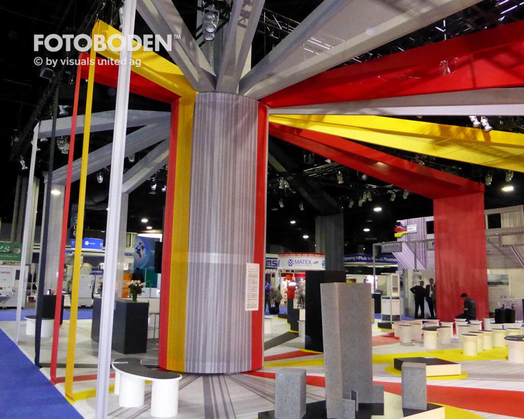FOTOBODEN™ Messeboden Messedesign Bodengestaltung