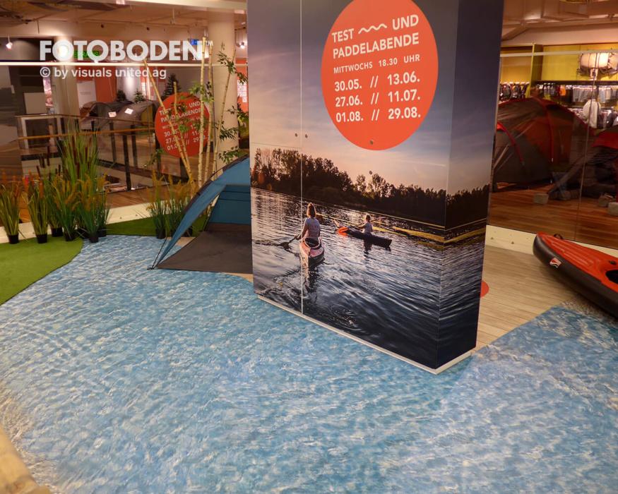 Ladengestaltung Verkaufsfläche Wasserboden