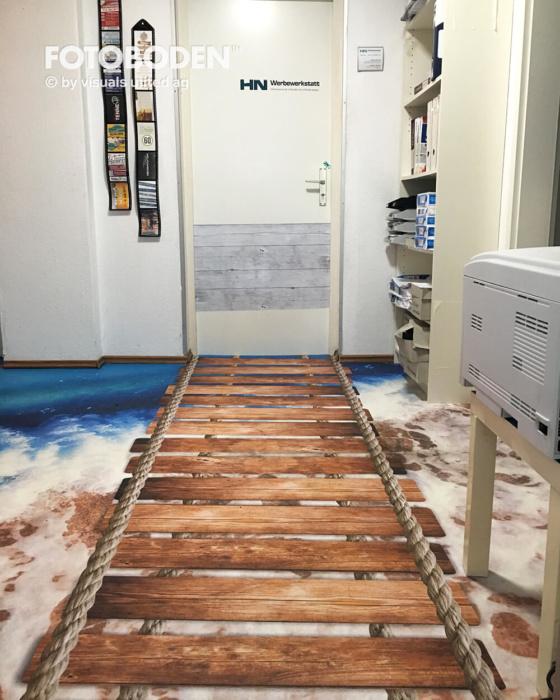 3D Boden Brücke Vinyl Designboden