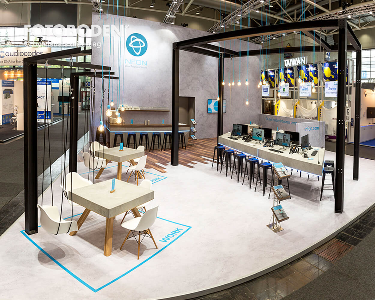 Bodengestaltung Messe Vinylboden Bodendesign