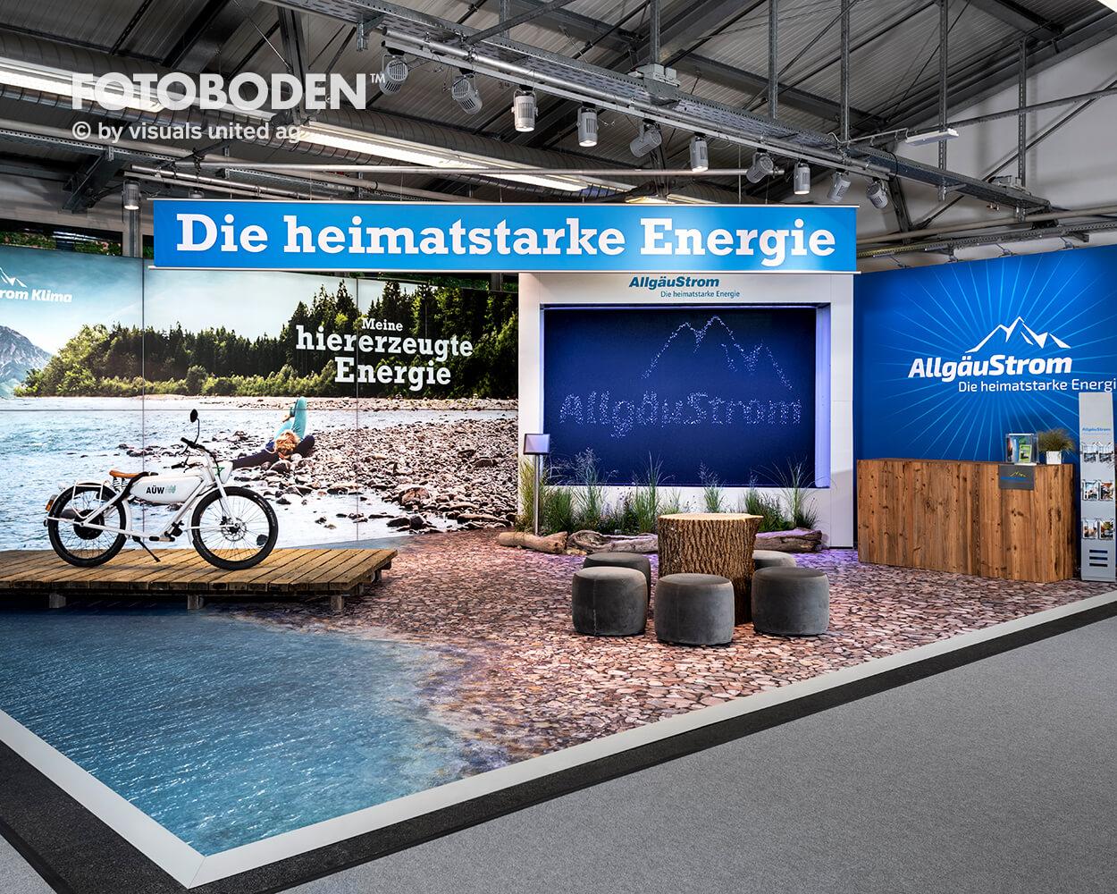 FOTOBODEN™ Messeboden Tradeshow Messedesign