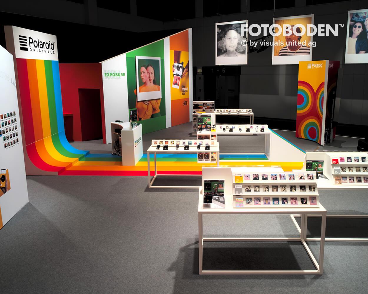 Fotoboden Messestand Design Teppich bedrucken