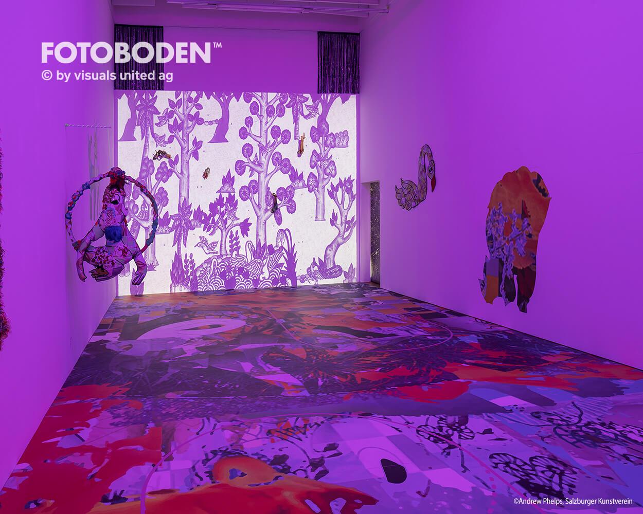 Ausstellung Museum Vinylboden individuell Event