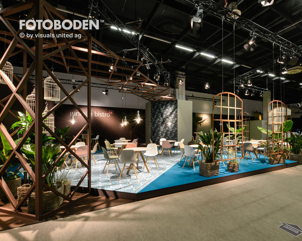 Messeboden Tradeshow Motivboden PVC