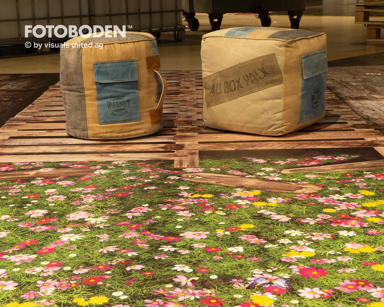 Vinylboden Designbelag Blumenwiese