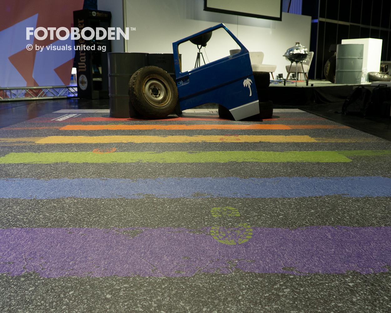 Messeteppich Boden bedrucken