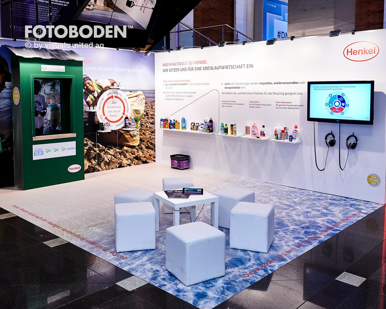 Henkel Fotoboden Messeboden Tradeshow