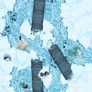 Vinylboden Eislandschaft mit Tieren Designbelag