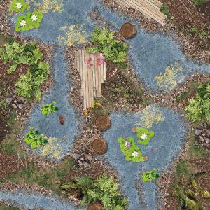 Vinylboden Teichlandschaft