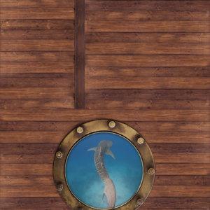 Vinylboden Bullauge Motivboden Holzoptik