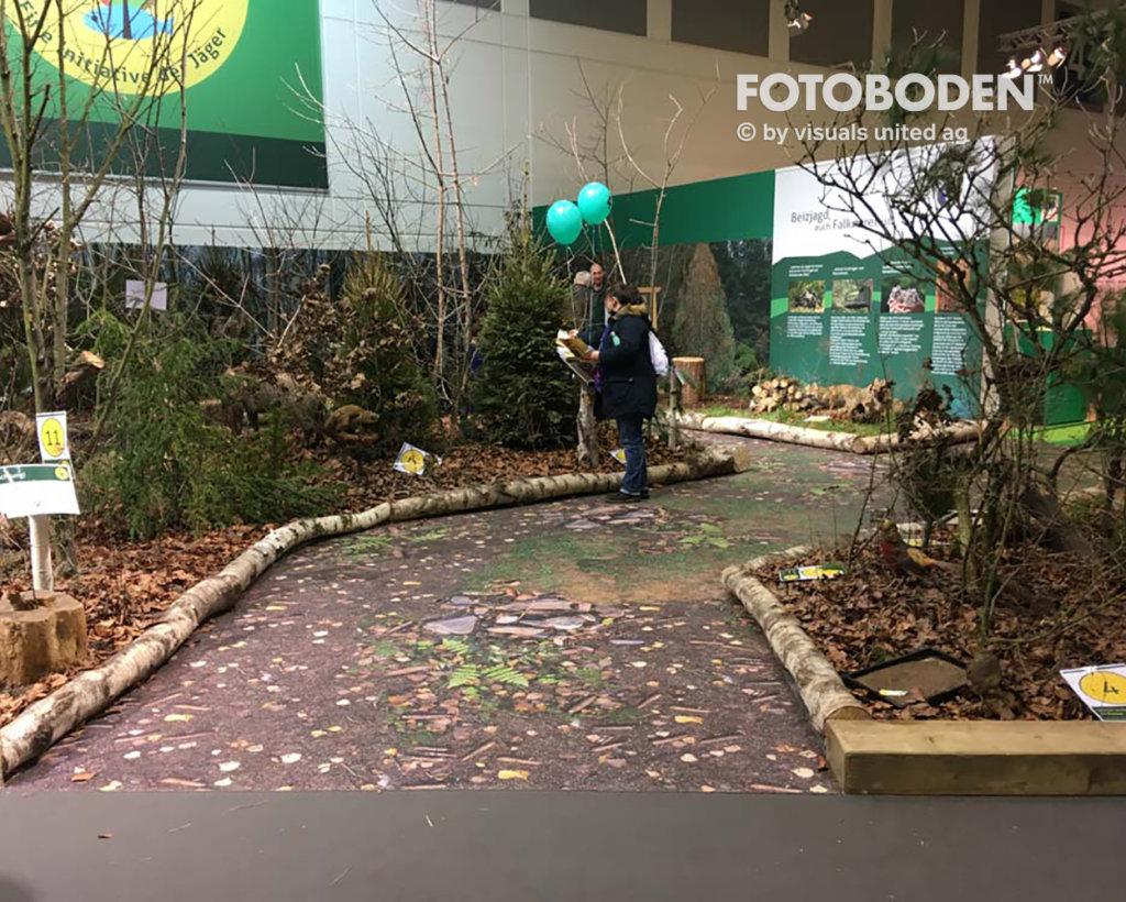 Bodengestaltung Messeboden Fotoboden PVC