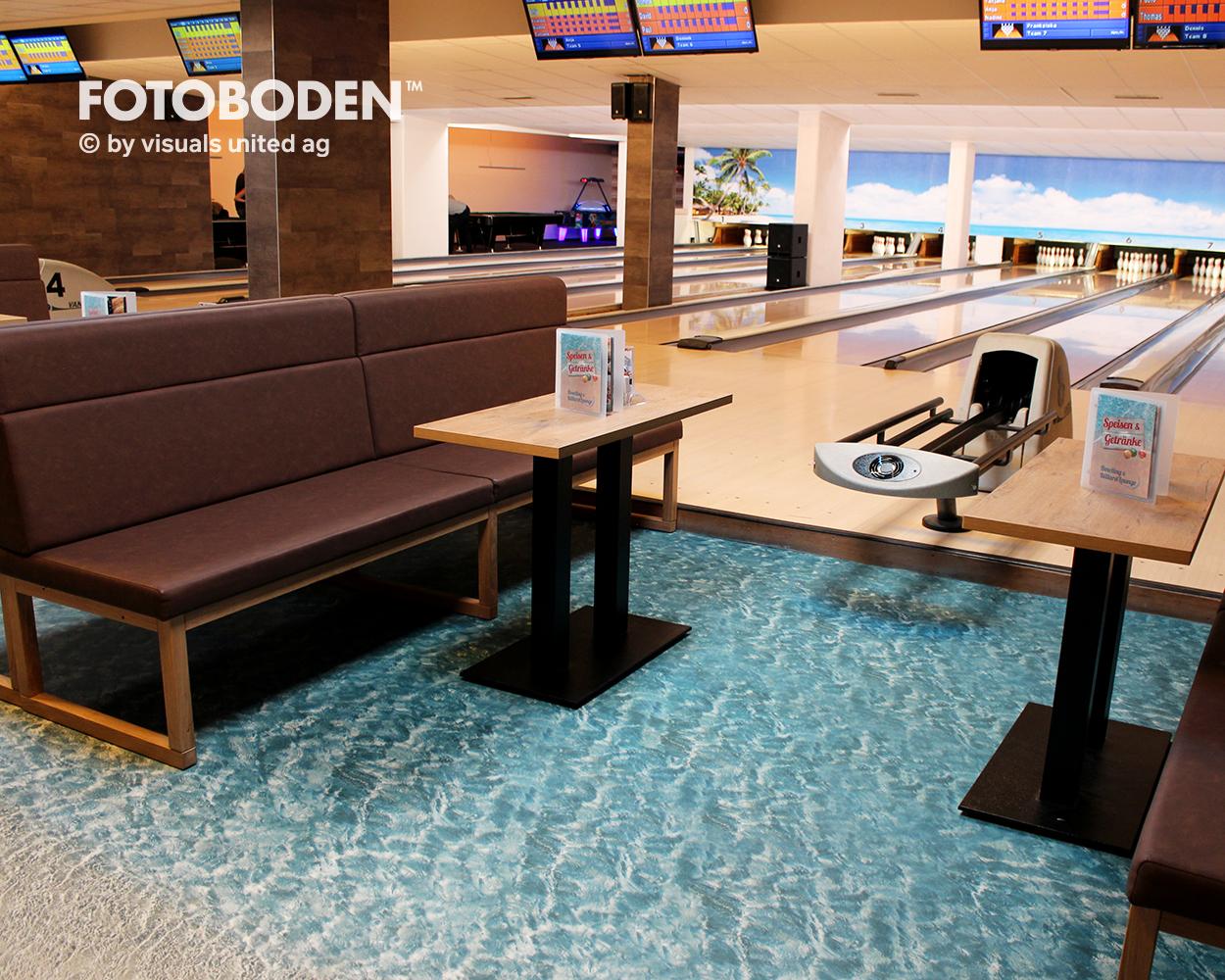 Strand mit Wasser Vinyl Bodenbelag, Designboden