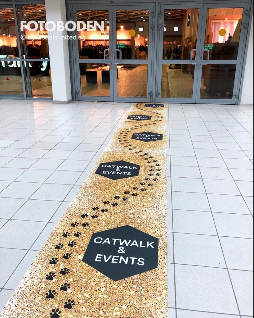 Personalisierte Fußmatte Eventmarketing Eventboden