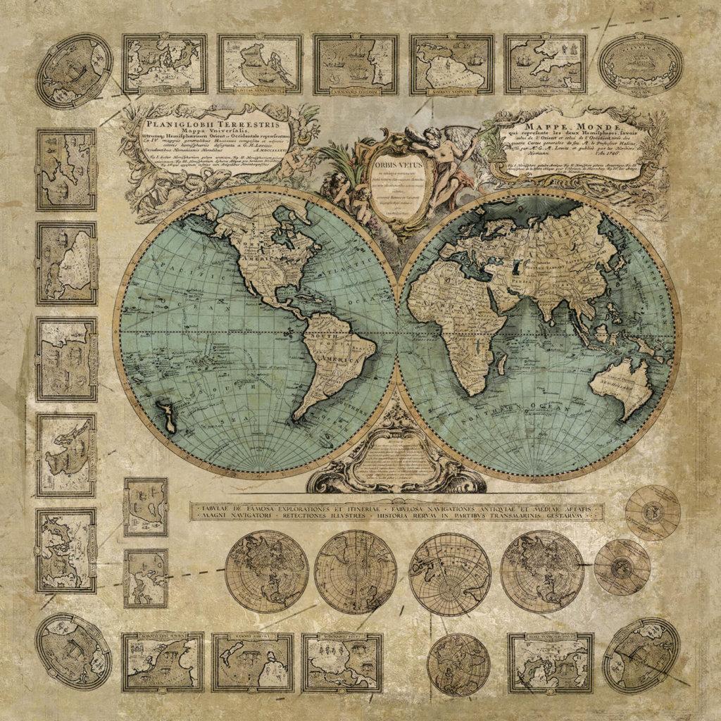 Vinylboden Historische Seekarte