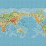 Vinylboden Weltkarte